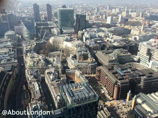 View From Heron Tower In The City of London
