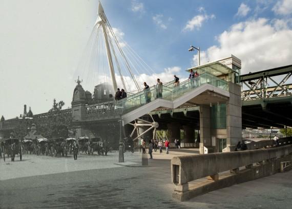 A fabulous hybrid image of Charing Cross.