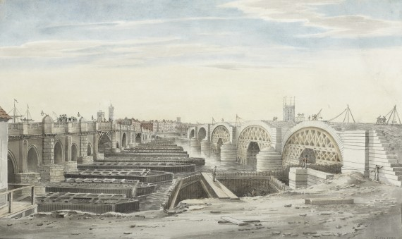 Gideon Yates A View Near the New London Bridge Watercolour on paper, made in 1829 © Museum of London