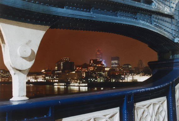 Marion Davies The City from Tower Bridge C-type print, made in 1998 © Marion Davies