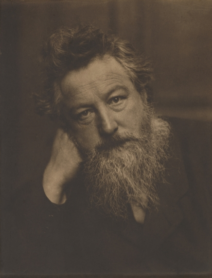 William Morris by Frederick Hollyer, 1884    Filename: NPG_889_1328_WilliamMorrisb.jpg    Copyright: National Portrait Gallery, London