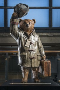 Benedict Cumberbatch's Paddington Trail bear at the Museum of Museum. Image © Museum of London.