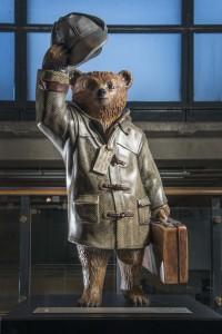 Benedict Cumberbatch's Paddington Trail bear at the Museum of Museum. Image © Museum of London.