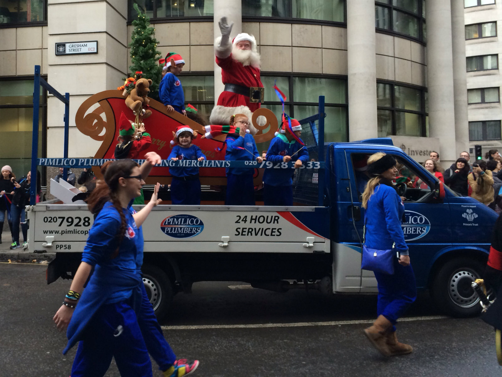 One of the biggest sections was from Pimlico Plumbers who also brought Santa.