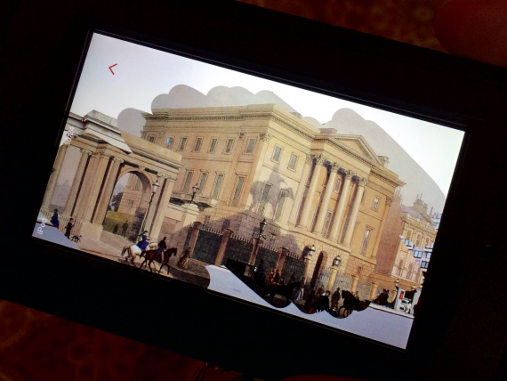 We got to rub away to see what Apsley House used to look like.