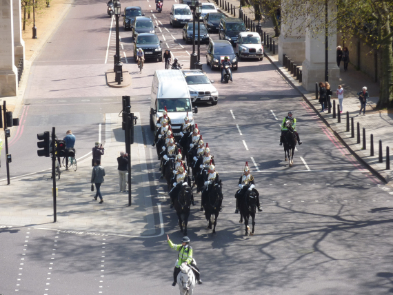 This was the guard coming off duty from Horse Guard's Parade.