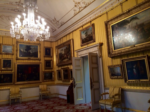 You can't take photos inside Apsley House so I got a few snaps for you.