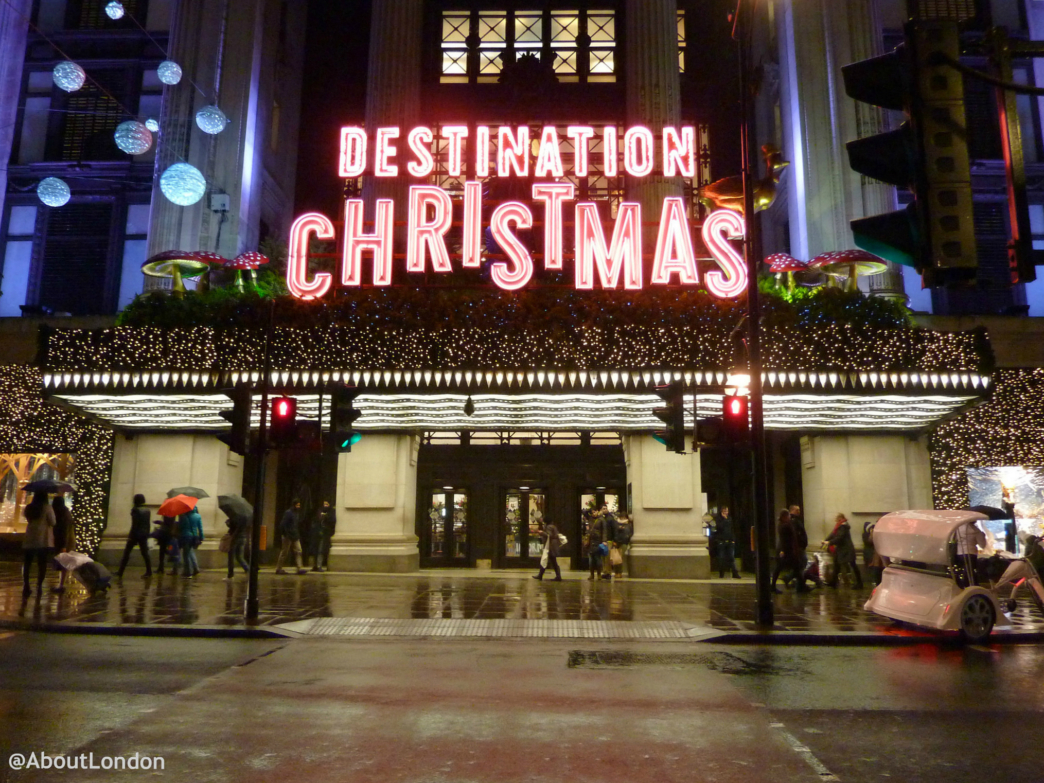 Christmas Lights Dates London 2015,