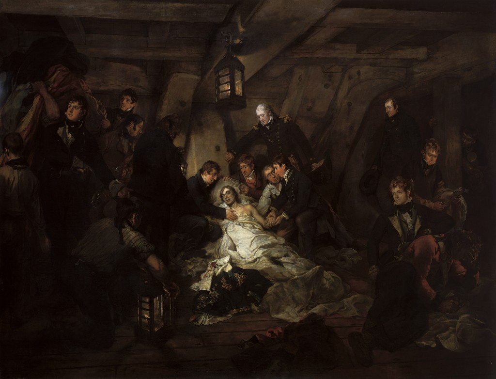 'The Death of Nelson, 21 October 1805', 1807, Arthur William Devis