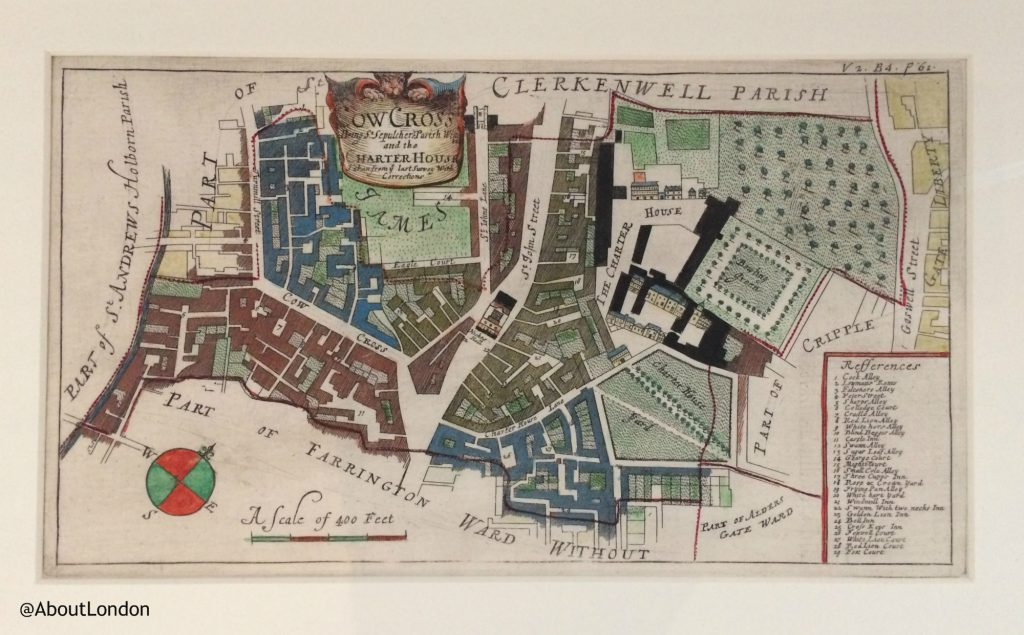 Clerkenwell parish map 1755