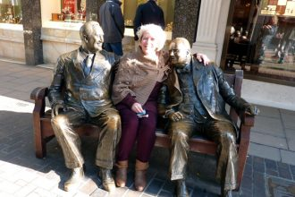 Allies bronze statue of Roosevelt & Churchill (with @MarDixon) too!