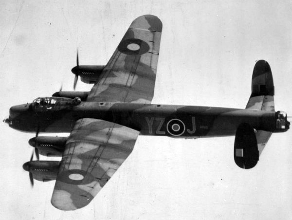 Avro Lancaster B Mark 1 (Special) of No. 617 Squadron based at Woodhall Spa, in flight, May 1945. © IWM (MH 30791)