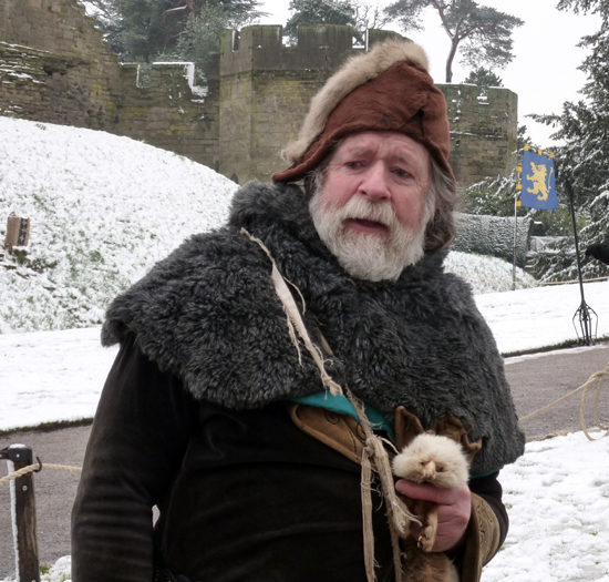 Measly Middle Ages doctor and his pet ferret