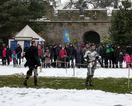 Warwick Warriors fighting in the Central Courtyard