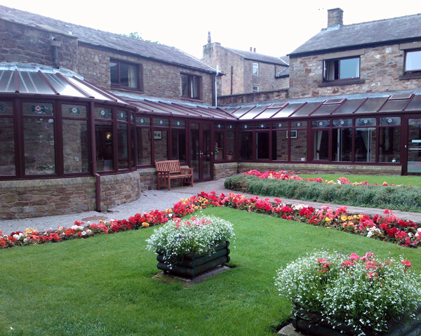 The garden at Mytton Fold.