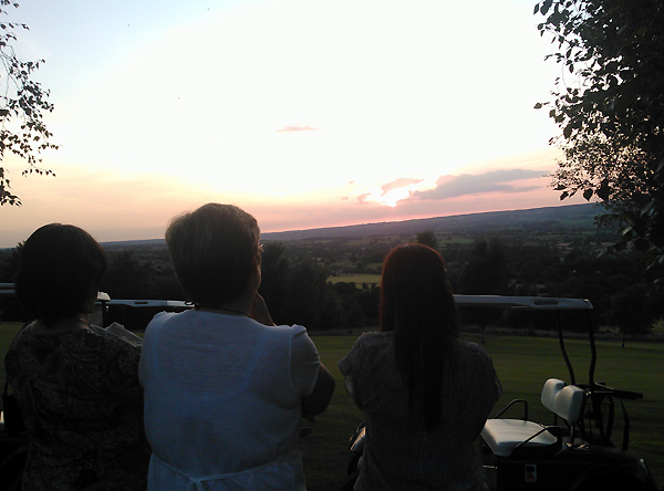 Watching the sunset.