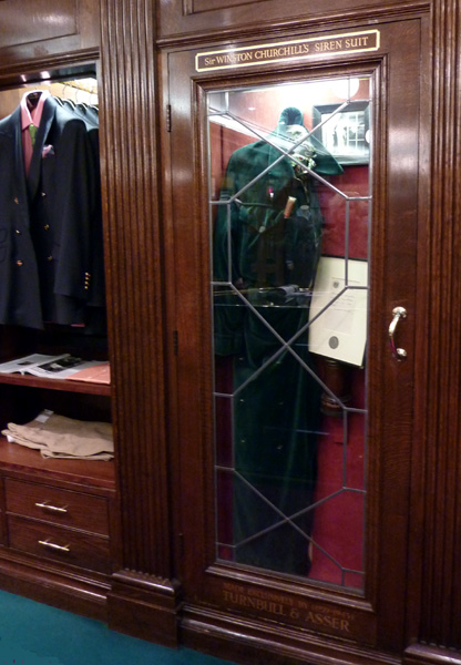 Winston Churchill's Siren Suit at Turnbull & Asser on Jermyn Street