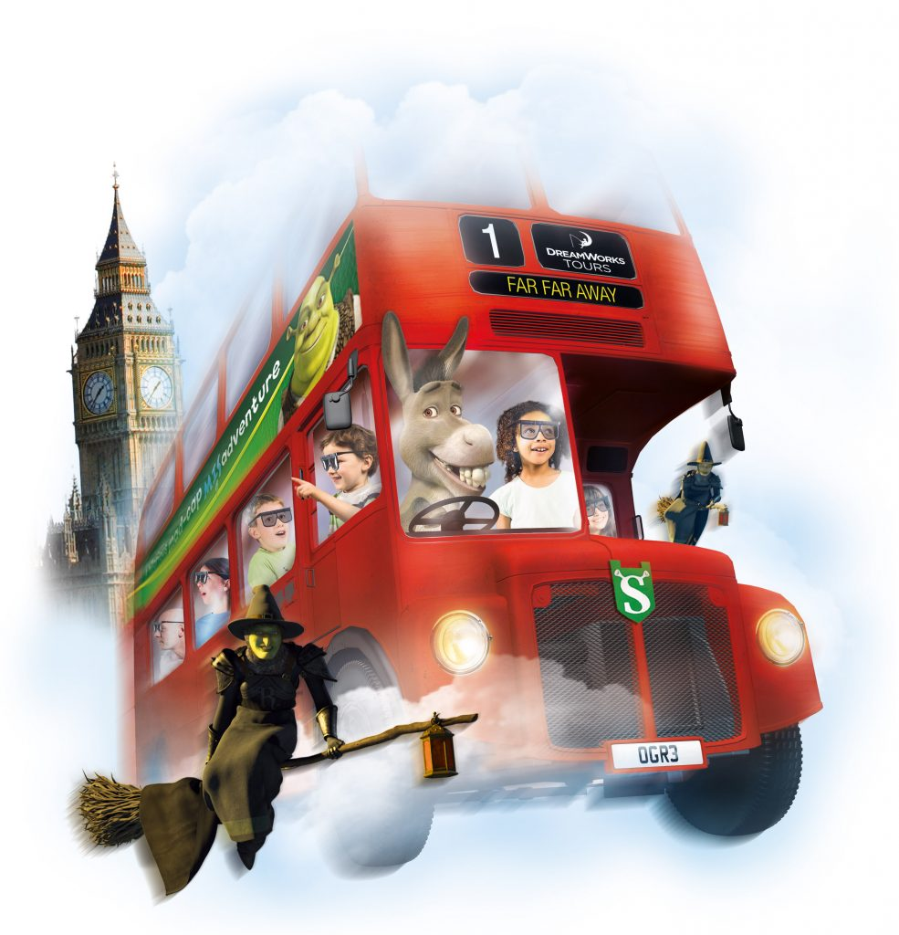4D London Bus Ride - Shrek's Adventure London