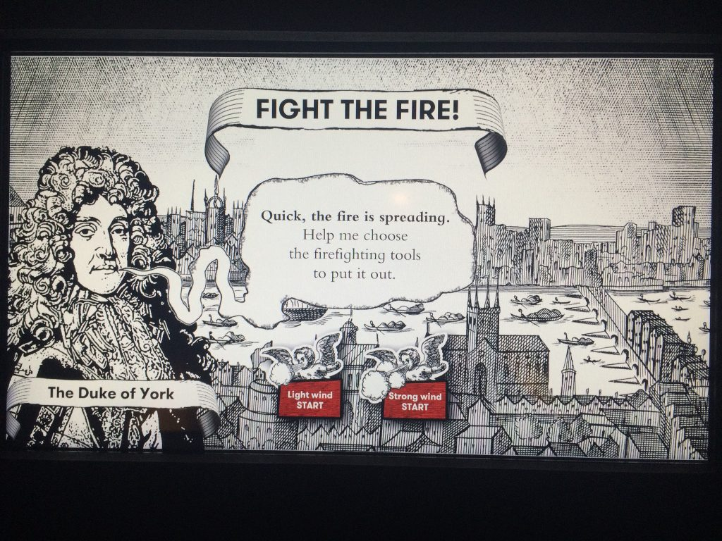 Museum of London Great Fire game
