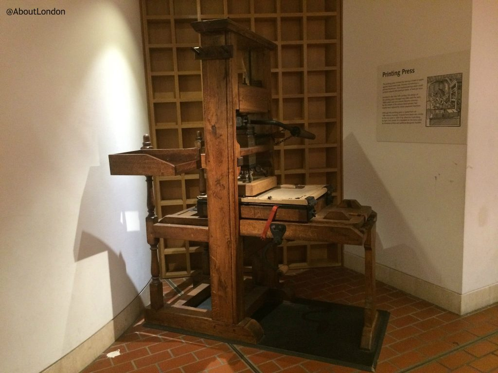 Printing Press at British Library