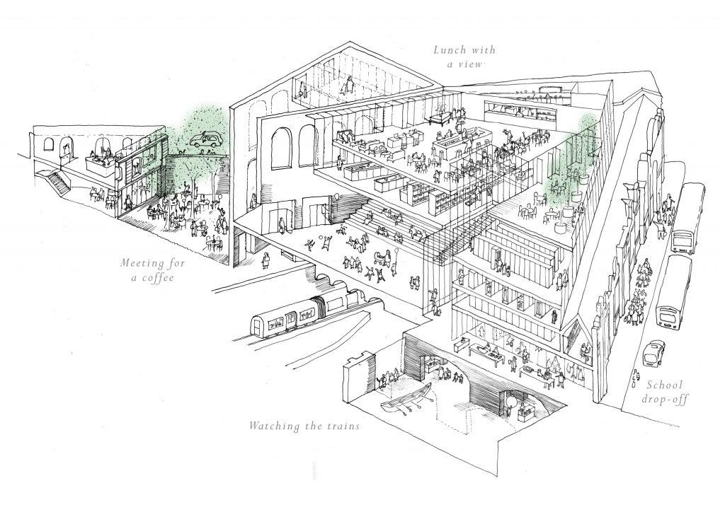 Museum of London - Institute Sketch - Stanton Williams