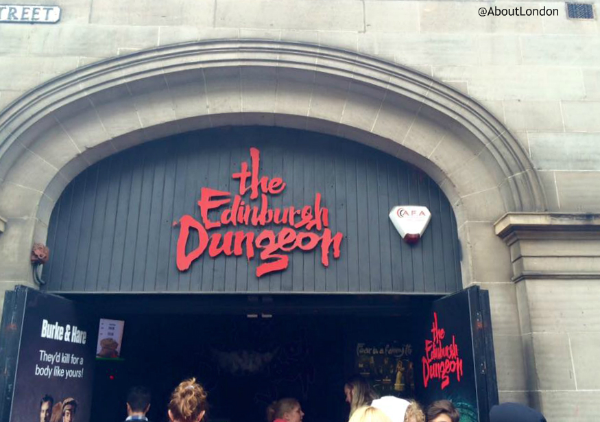 Edinburgh Dungeon entrance