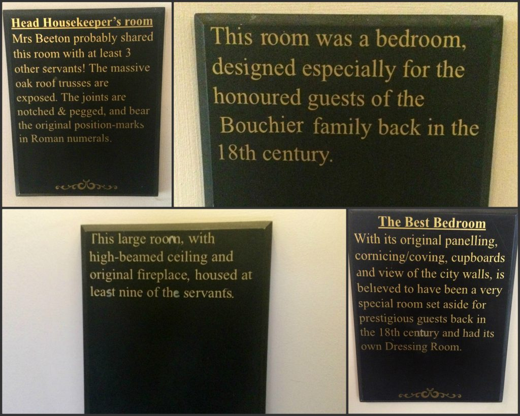 Safestay York room signs