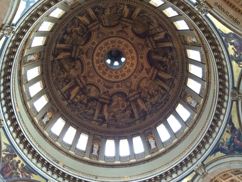 Looking up into St Paul's Cathedral dome