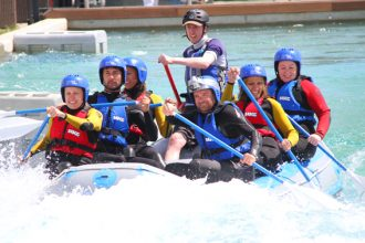 white water rafting at Lee Valley