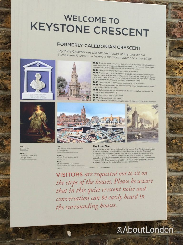 Keystone Crescent information board