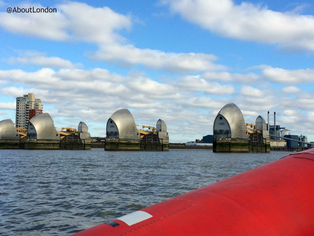 Thames Rockets Review - Thames Barrier seen from Thames Rockets