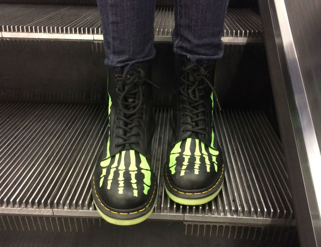Skelly Boots glow in the dark