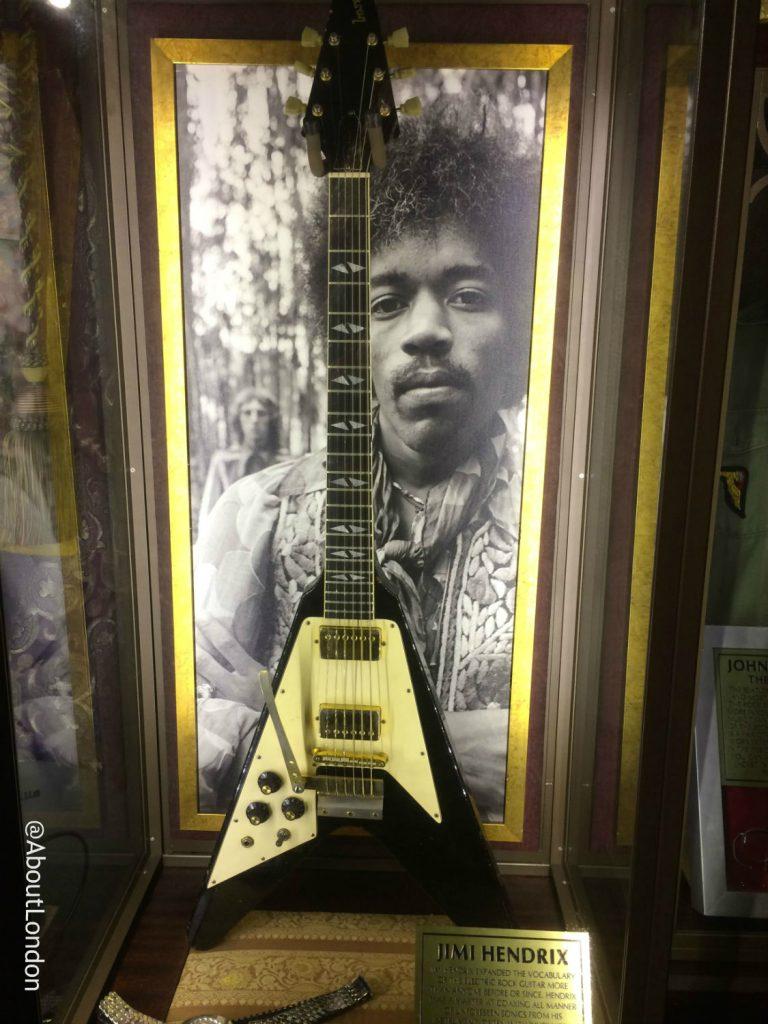 Hard Rock Cafe Vault - Hendrix guitar