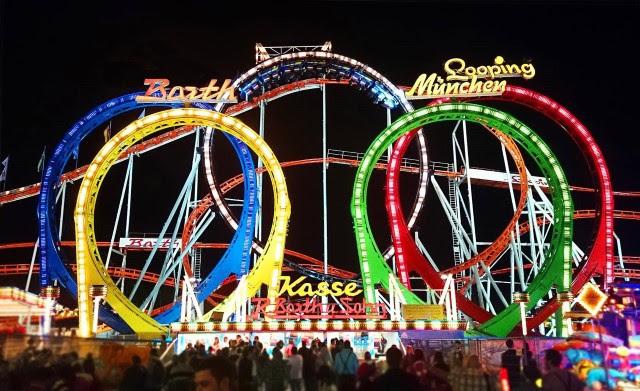 Winter Wonderland - Munich Looping rollercoaster