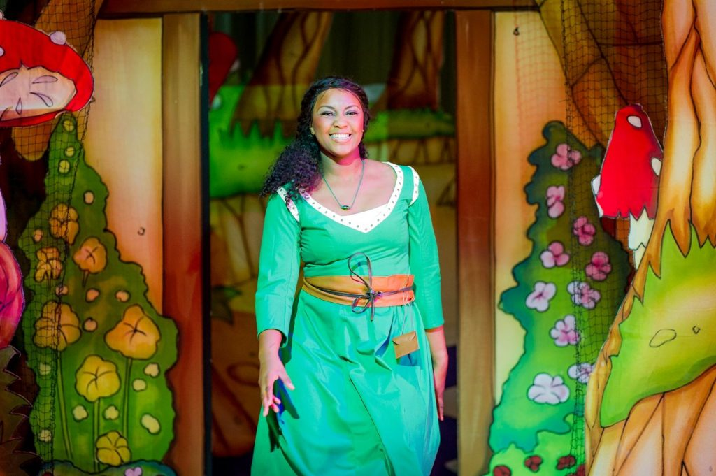 Alexia Khadime as Sleeping Beauty in Hackney Empire's Sleeping Beauty. Credit Bob Workman