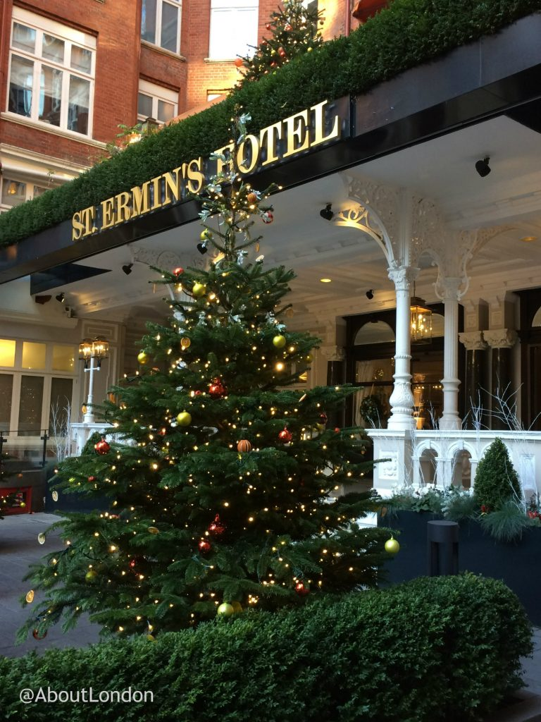 St Ermin's Hotel entrance - Winter Wonderland Afternoon Tea