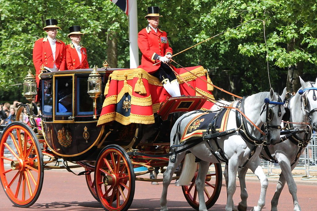 Trooping the colour - Queen's Coach