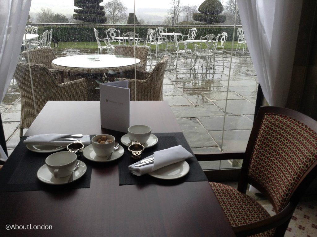 Danesfield House Hotel afternoon Tea table