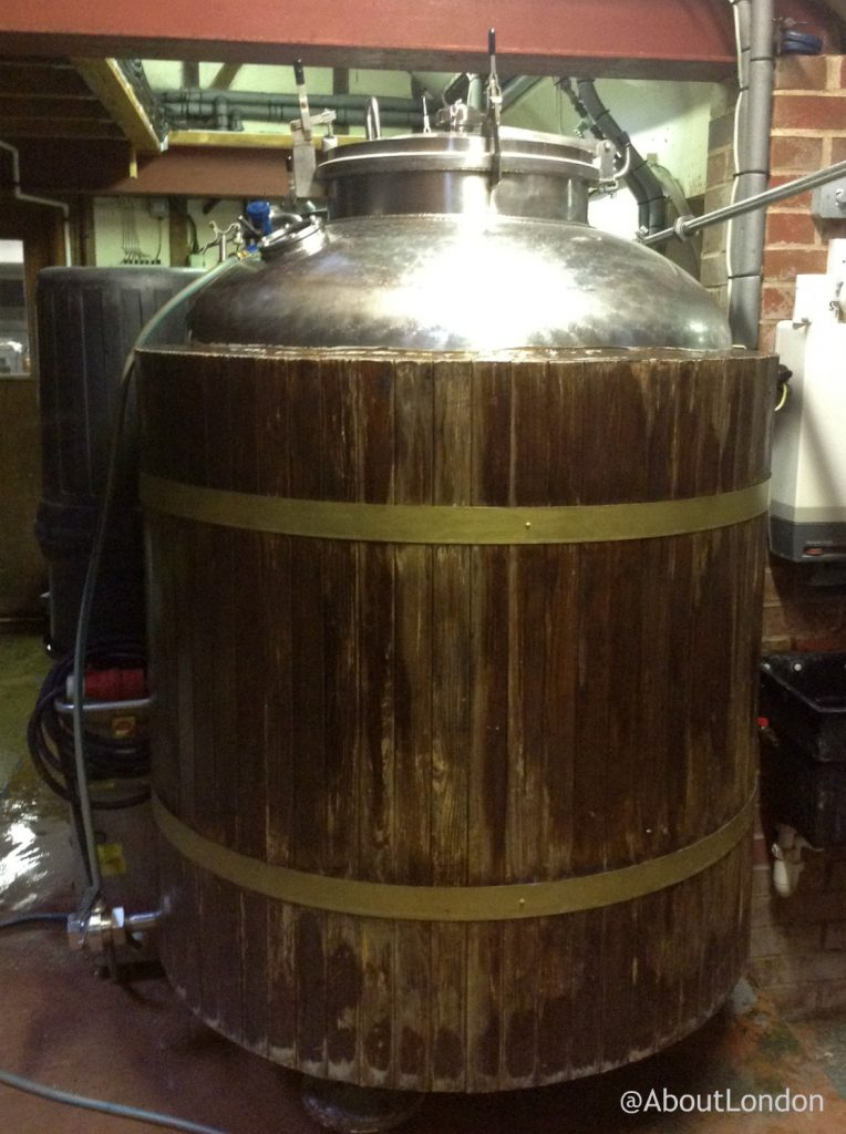 Chiltern Valley Winery and Brewery - ale vat