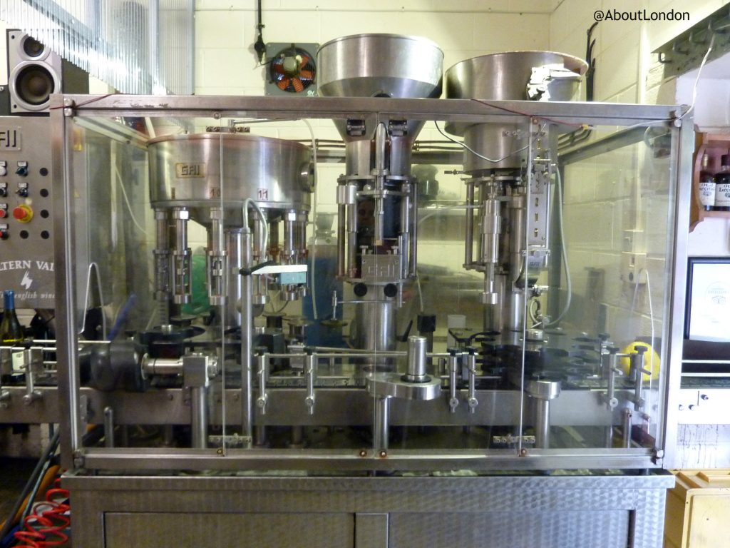 Chiltern Valley Winery and Brewery - bottling machine