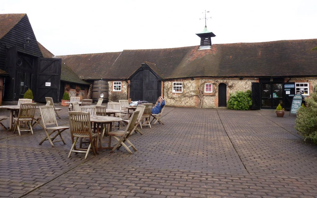 Chiltern Valley Winery and Brewery courtyard