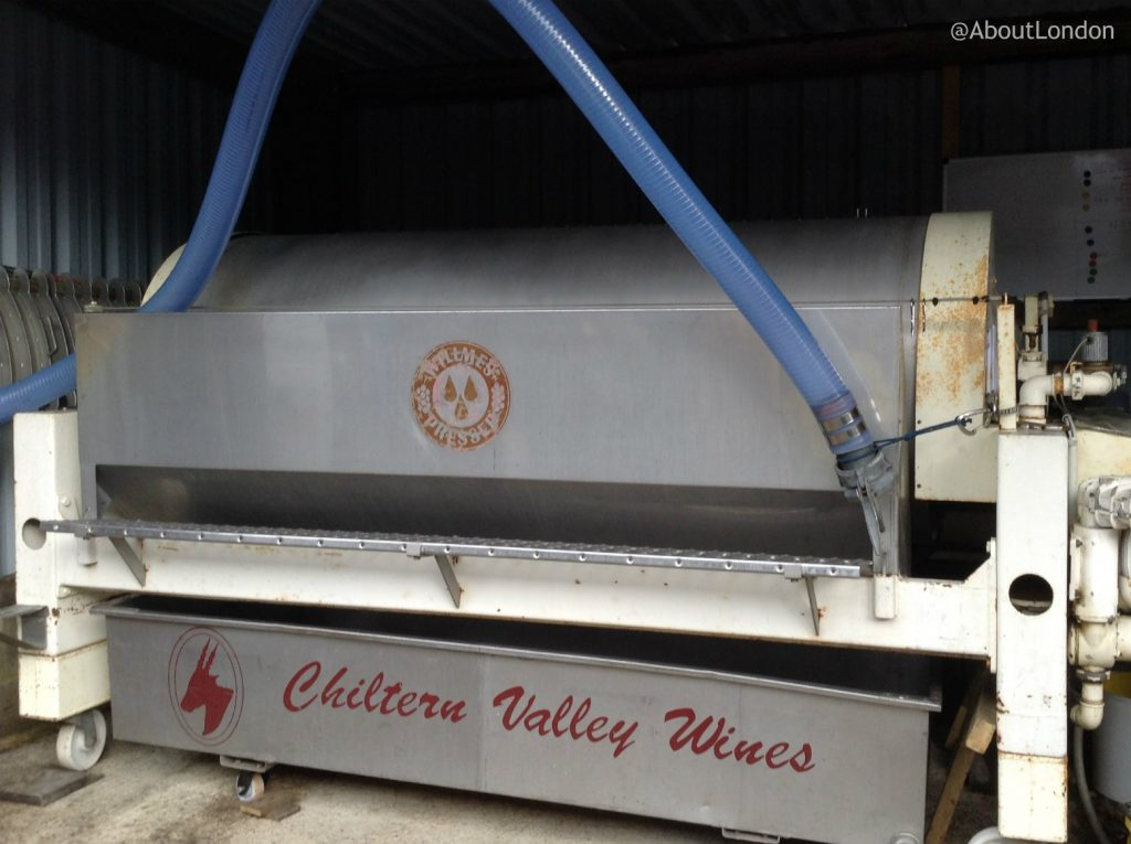 Chiltern Valley Winery and Brewery - grape pressing machine