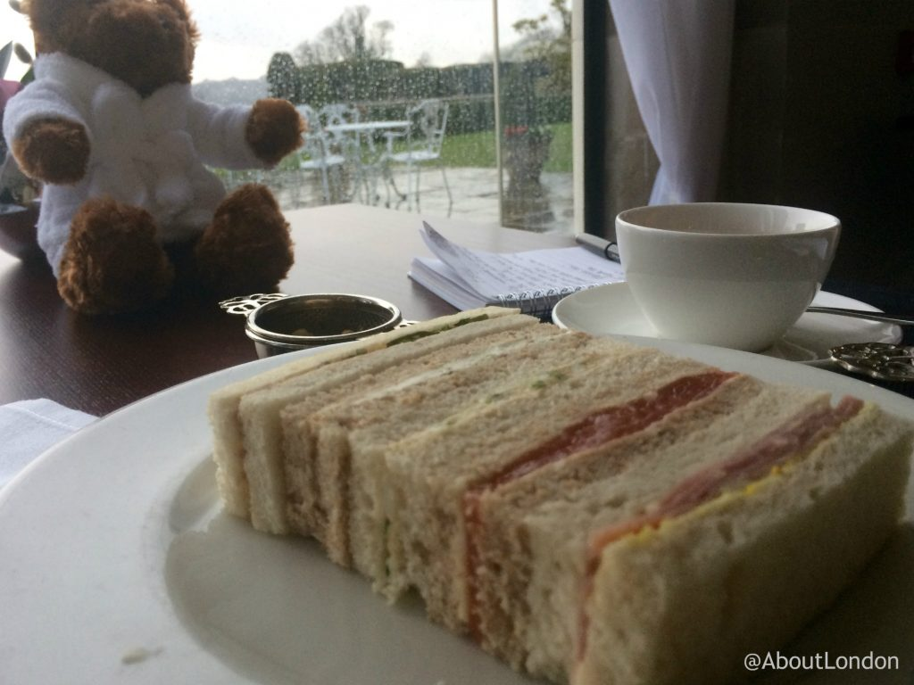 Danesfield House Hotel afternoon tea - sandwiches