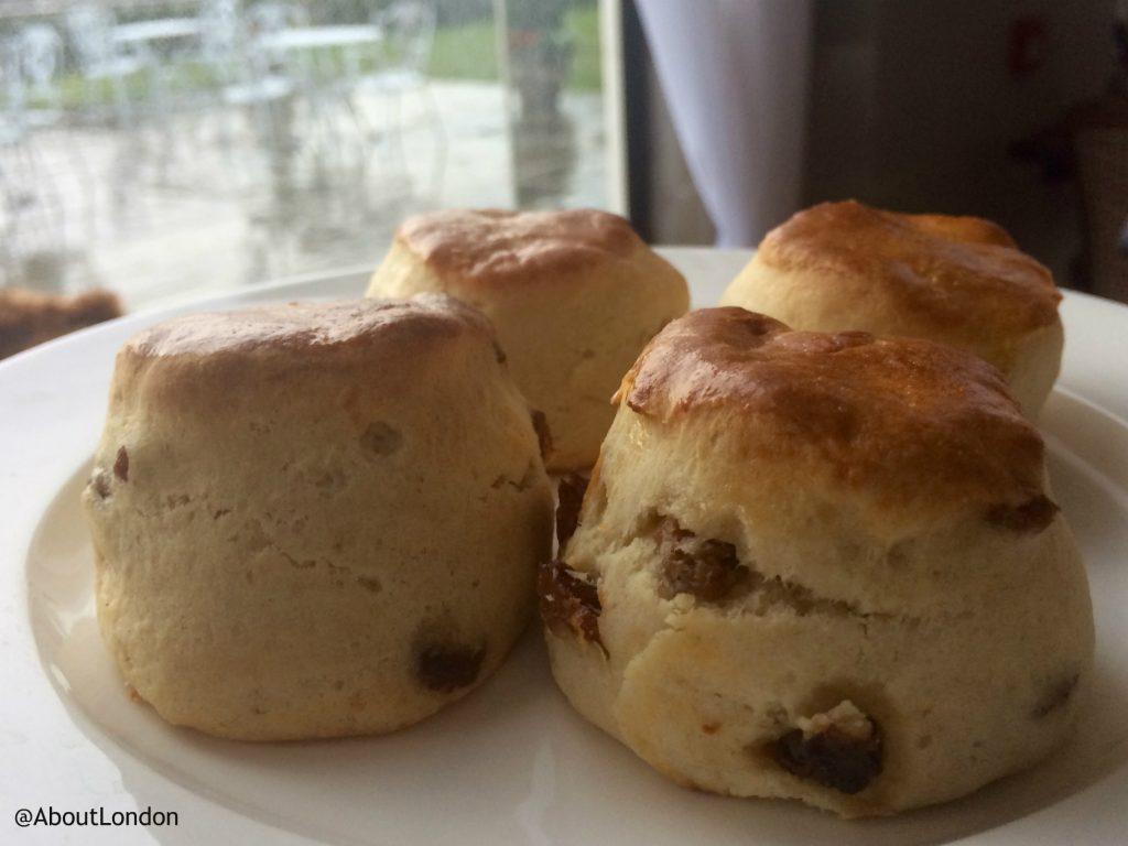 Danesfield House Hotel afternoon tea scones