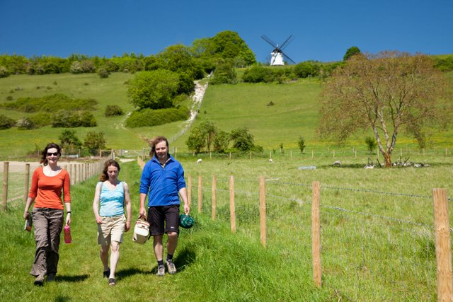 walkers near Turville, The Chilterns