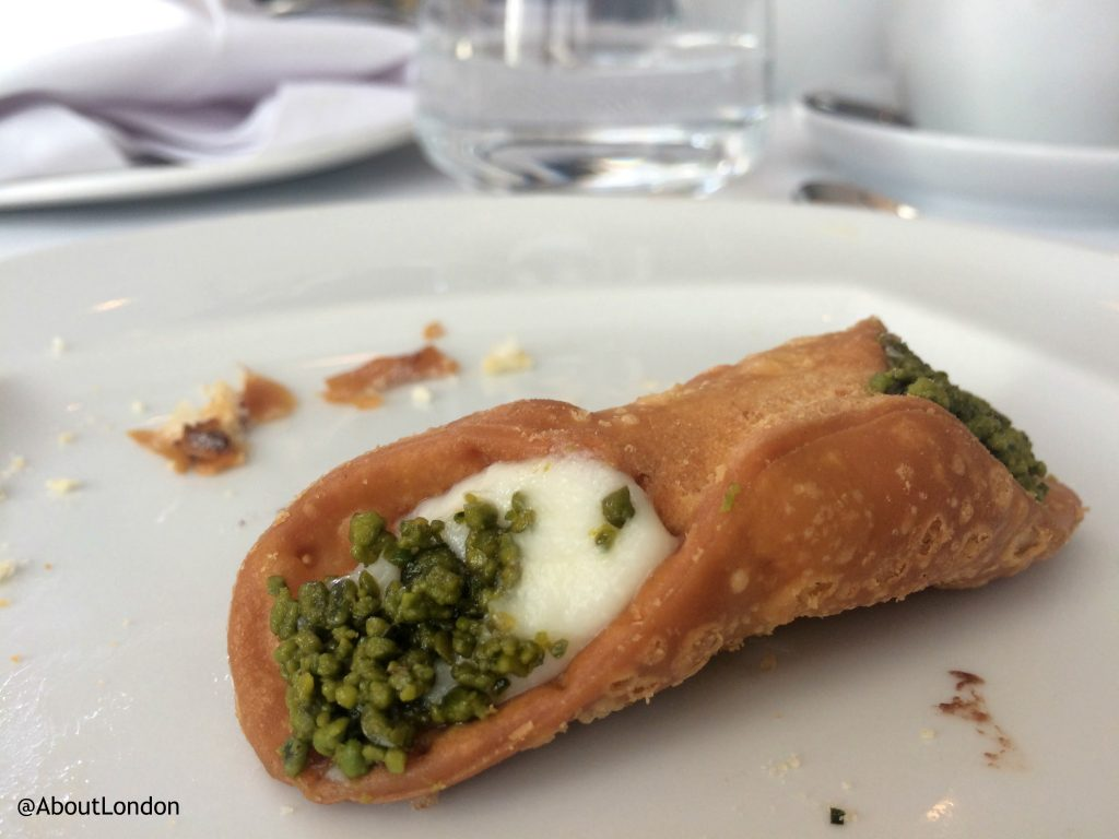 Baglioni afternoon tea - cannoli