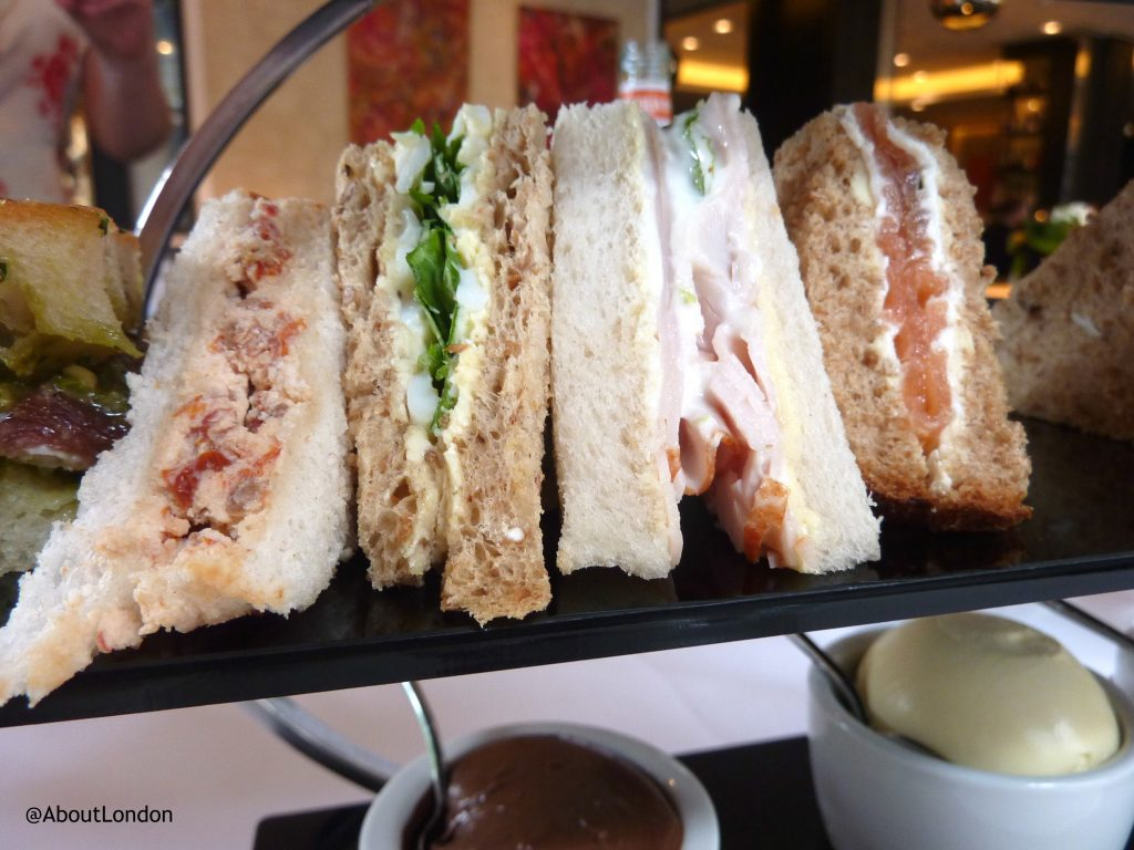 Baglioni afternoon tea - sandwiches