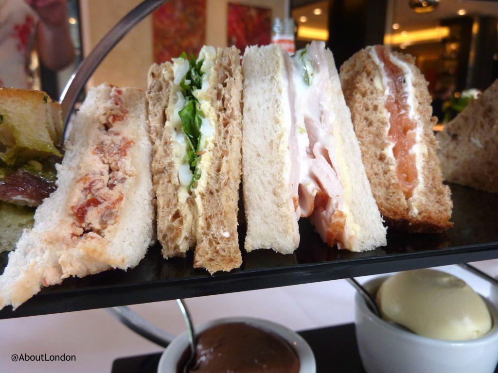 Baglioni afternoon tea - sandwiches