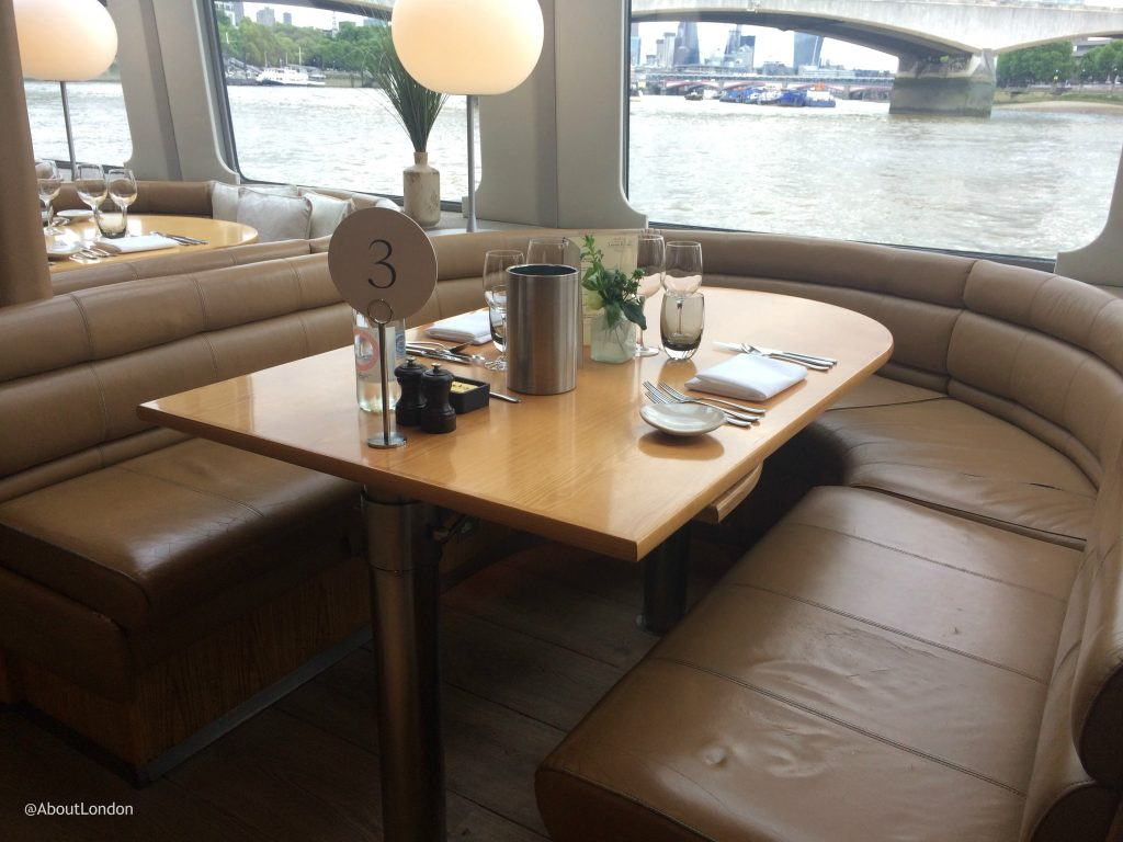 Laurent Perrier Champagne Lunch Cruise - dining booth