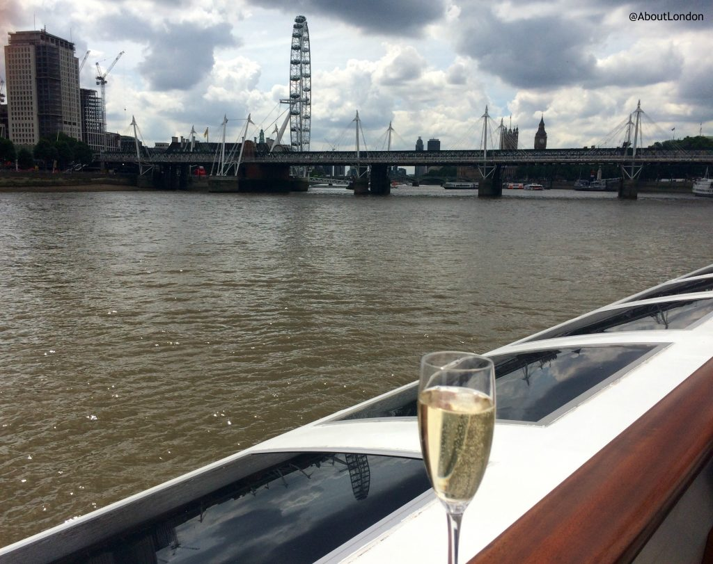 Laurent Perrier Champagne Lunch Cruise - up on deck